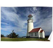 The Lighthouse At Cape Blanco Poster