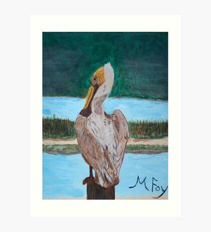 Pelican's Rest Art Print