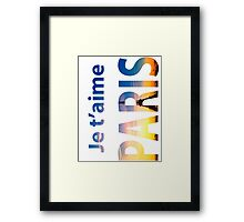Je T'aime PARIS. Typography Framed Print
