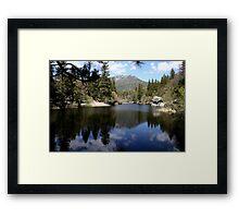 Water mirror - Silent Valley, CA Framed Print