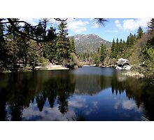Water mirror - Silent Valley, CA Photographic Print