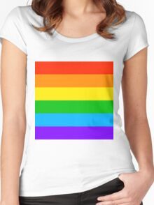 Gay Rainbow Pride Women's Fitted Scoop T-Shirt