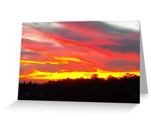 Red Sails in this sunset Greeting Card