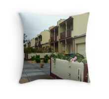 Row of Town Houses - Central Park. Vic Throw Pillow
