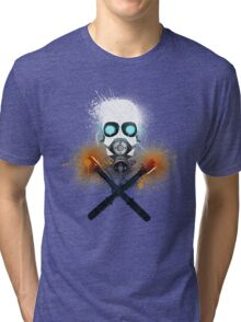 Combine Splatter Grunge Tri-blend T-Shirt