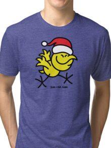 Merry Christmas Chicken Tri-blend T-Shirt