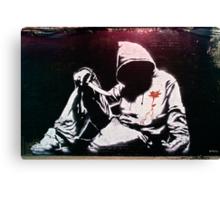 Hoodie by Banksy Canvas Print