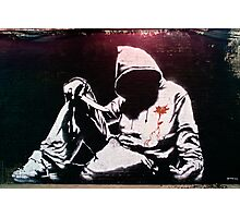 Hoodie by Banksy Photographic Print