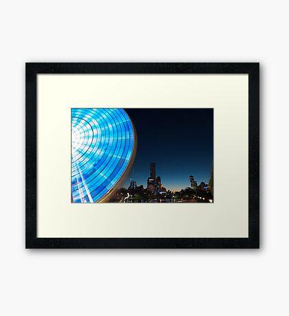 Blue Evening Ride Framed Print