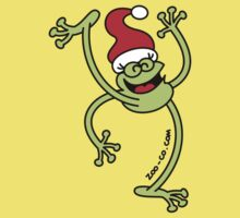 Merry Christmas Frog One Piece - Short Sleeve