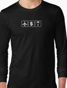 D B Cooper (White) Long Sleeve T-Shirt