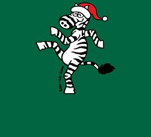 Christmas Zebra Womens Fitted T-Shirt
