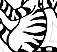 Christmas Zebra Sticker