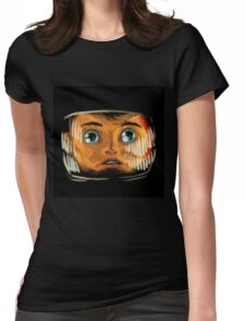 Space odyssey illustration Womens Fitted T-Shirt