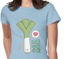 Leeks are Awesome (Japanese) Womens Fitted T-Shirt