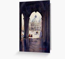 St Marks Plaza, Venice Greeting Card