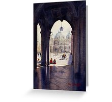 St Marks Plaza, Venice Greeting Card