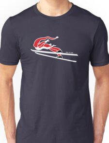 Santa Claus Goes Ski Jumping Unisex T-Shirt