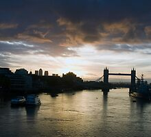 Sunrise over Tower Bridge by Russell Bruce