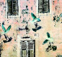 The Essence of Croatia - White Doves in Dubrovnik Sticker