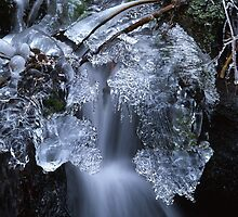 White waterfall in  winter 6 by intensivelight