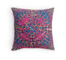 Mandala Purple Throw Pillow