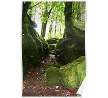 Green rocks in jurassic Poster