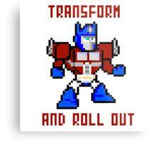 8bit Optimus Prime Transformers Metal Print