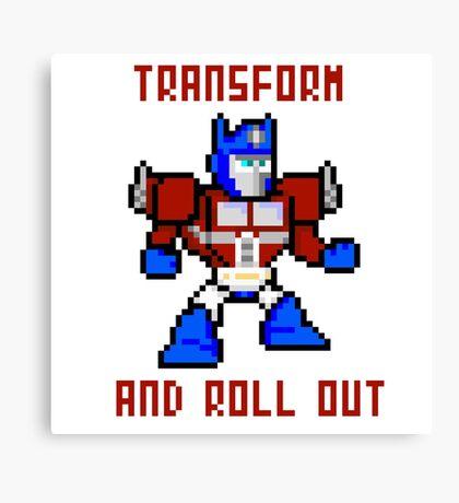 8bit Optimus Prime Transformers Canvas Print