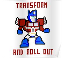8bit Optimus Prime Transformers Poster