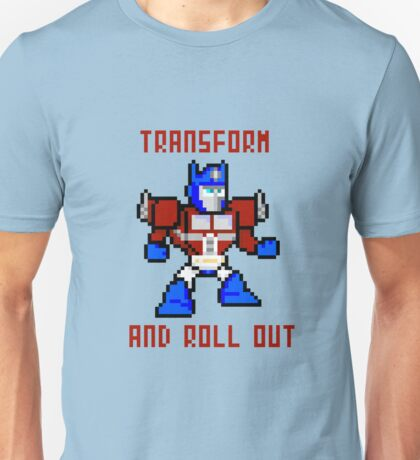 8bit Optimus Prime Transformers Unisex T-Shirt