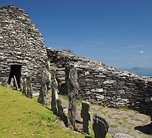 Skellig Island Bee Hives Landscape, County Kerry, Ireland by upthebanner