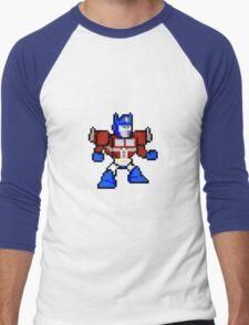 8bit Optimus Prime Transformers no text Men's Baseball ¾ T-Shirt