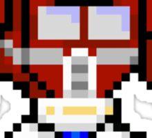 8bit Optimus Prime Transformers no text Sticker
