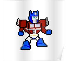 8bit Optimus Prime Transformers no text Poster