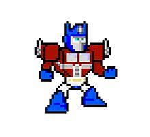 8bit Optimus Prime Transformers no text Photographic Print