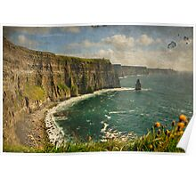 Famous Cliffs OF Moher, County Clare, Ireland Poster