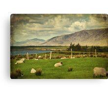 Connemara Irish Nature Rural Scenic Landscape. Canvas Print