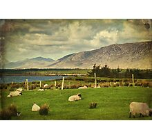 Connemara Irish Nature Rural Scenic Landscape. Photographic Print