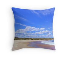 Beach Reflections - near Frasers Reef - NSW Throw Pillow