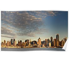 New York Midtown Cityscape Skyline Hudson River Poster