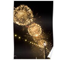 Fireworks over the River Thames Poster