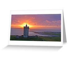 Sunset Over Doolin Castle, County Clare, Ireland Greeting Card