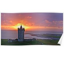 Sunset Over Doolin Castle, County Clare, Ireland Poster
