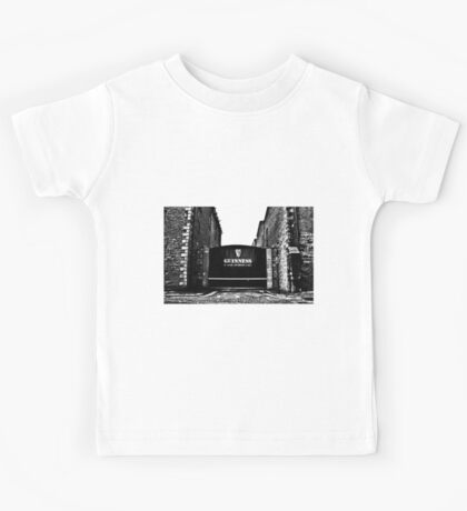 Dublin in Mono: Guinness - St. James's Gate Brewery  Kids Tee