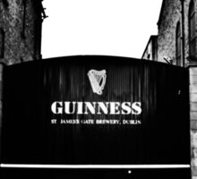 Dublin in Mono: Guinness - St. James's Gate Brewery  Sticker