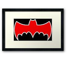 Batmobile '66 Symbol Framed Print