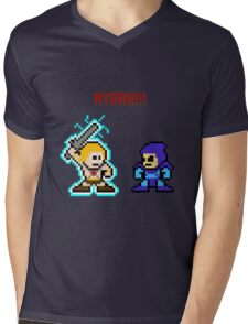He-man, Skeletor fight! MYAAAAAAAAHH! Mens V-Neck T-Shirt