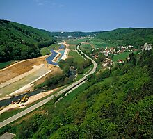 Construction of Main Danube Canal in Altmuehltal, Bavaria, Germany. by David A. L. Davies