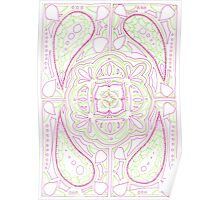 Psychedelic Lily Poster